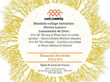 Café Canopée 20 octobre - Lancements de livres et Mandalas
