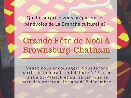 Grande Fête de Noël de Brownsburg-Chatham - Nous avons besoin de vos votes!