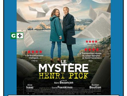 Le mystère Henri Pick - Ciné-club 23 janvier 2020