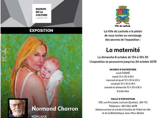 Porte-voix culturel: Normand Charron à la Maison de la culture de Lachute