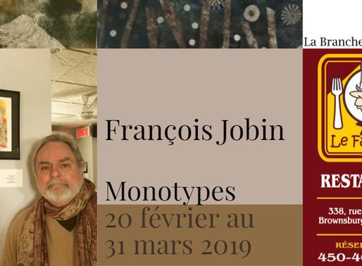 François Jobin au restaurant Le Faimfino jusqu'au 31 mars 2019