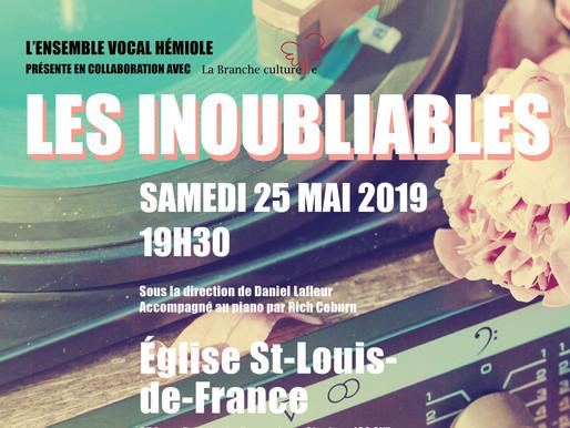 Les inoubliables - Concert du printemps d'Hémiole 25 mai 2019
