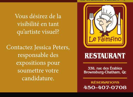 Appel aux artistes - Exposition au restaurant Le Faimfino