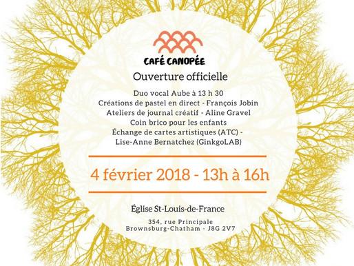 Café Canopée - Ouverture officielle le 4 février 2018