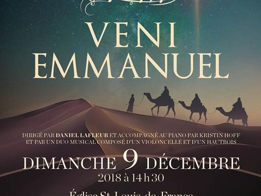 Veni Emmanuel - Concert de Noël de l'Ensemble vocal Hémiole