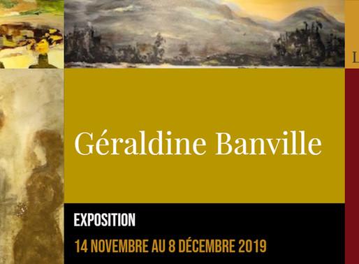 Géraldine Banville au restaurant Le Faimfino du 14 novembre au 8 décembre 2019