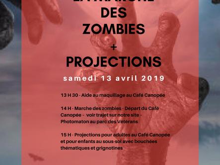 Marche des zombies et projections à Brownsburg-Chatham - 13 avril 2019