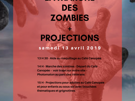 Marche des zombies et projections à Brownsburg-Chatham - 13 avril 2019