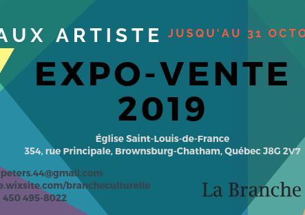 Expo-Vente 2019 - Appel de dossiers - Reporté