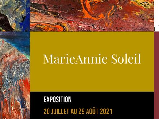 MarieAnnie Soleil expose au restaurant Le Faimfino jusqu'au 29 août