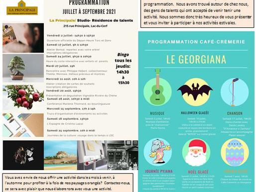 Programmation 2021 - La Principale - Lac-du-Cerf