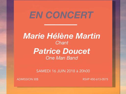 Porte-voix culturel: Boldairpur présente Marie-Hélène Martin et Patrice Doucet en concert