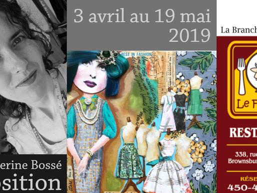 Catherine Bossé au restaurant Le Faimfino jusqu'au 19 mai 2019