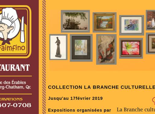 La collection de La Branche culturelle exposée au restaurant Le Faimfino jusqu'au 17 février 201