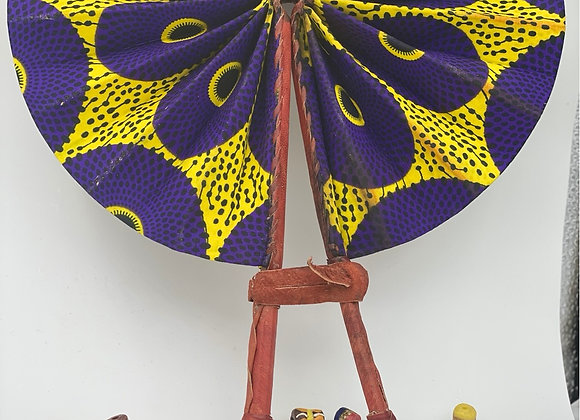 Authentic Africa Print Fan