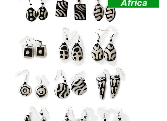 African Bone Earrings