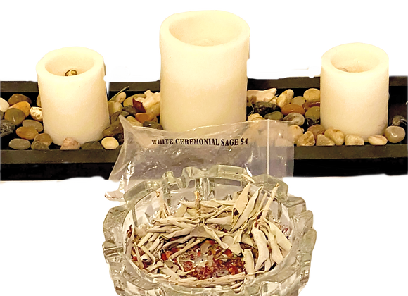 313 Self Care Gift Set-  White Ceremonial Sage - Loose Bundle Sets-