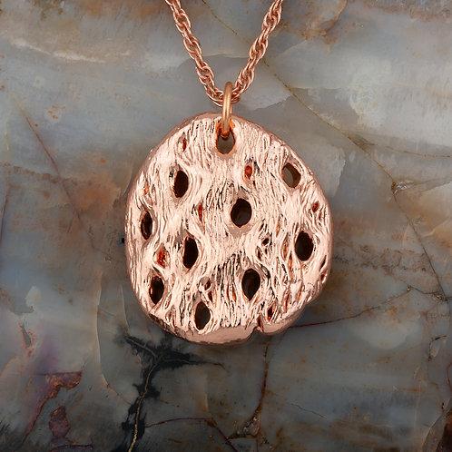 Small Copper Cholla Pendant