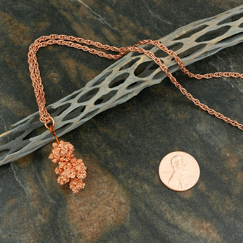 Copper Crystal Pendant