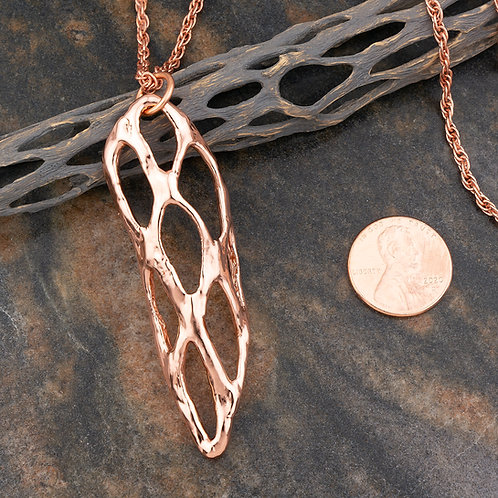 Large Copper Cholla Pendant