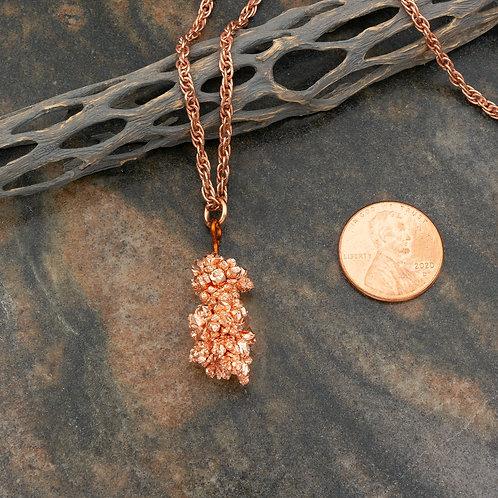 Copper Crystal Pendant