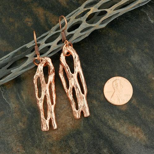 Medium Copper Cholla Earrings