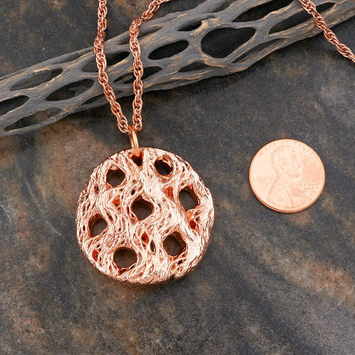 Small Copper Cholla Pendant