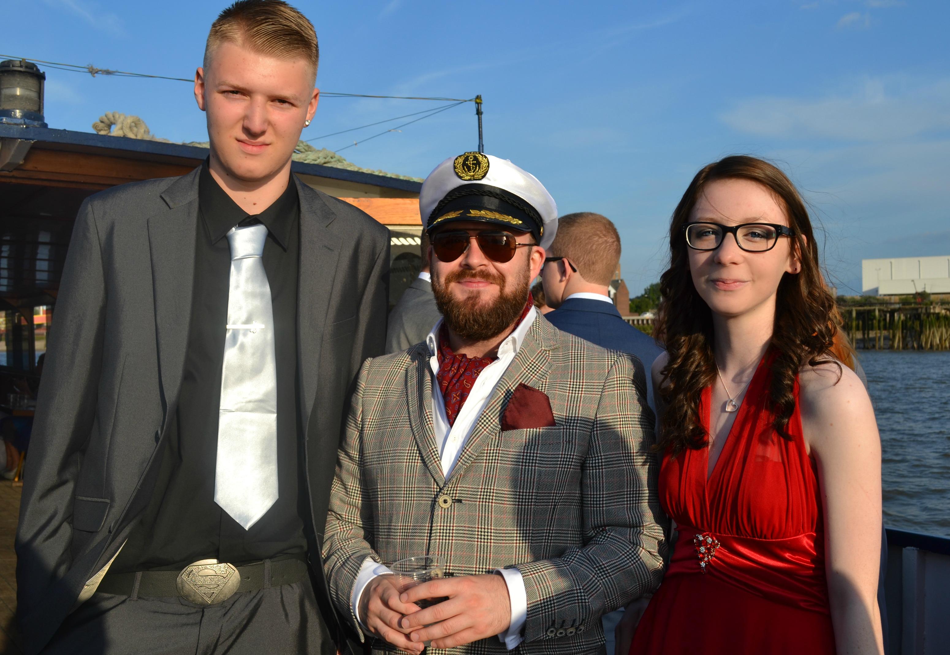 Aaron, Mr James Looney and Josie