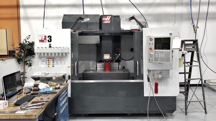 Haas VF-3 with 5-axis truinnion