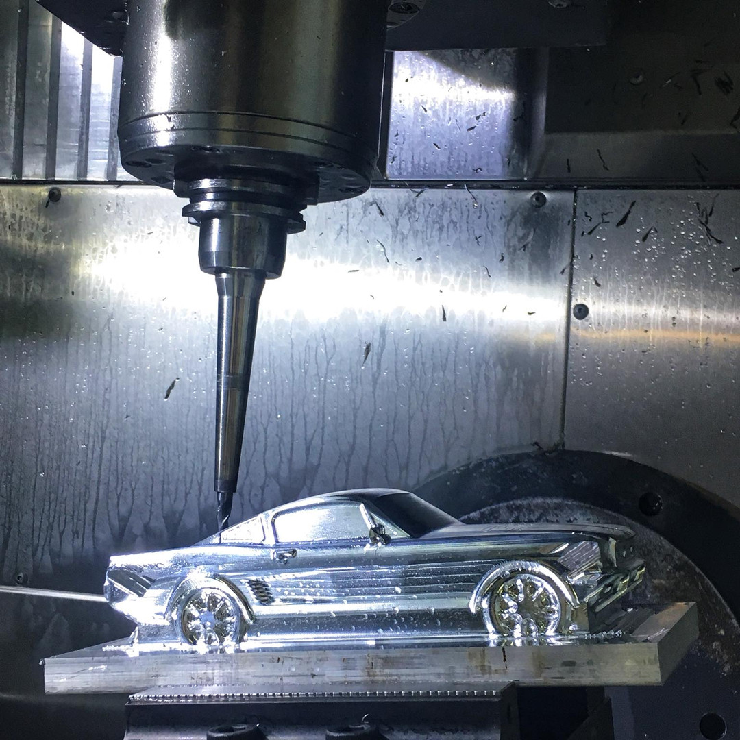 5-axis Ford Mustang mid process