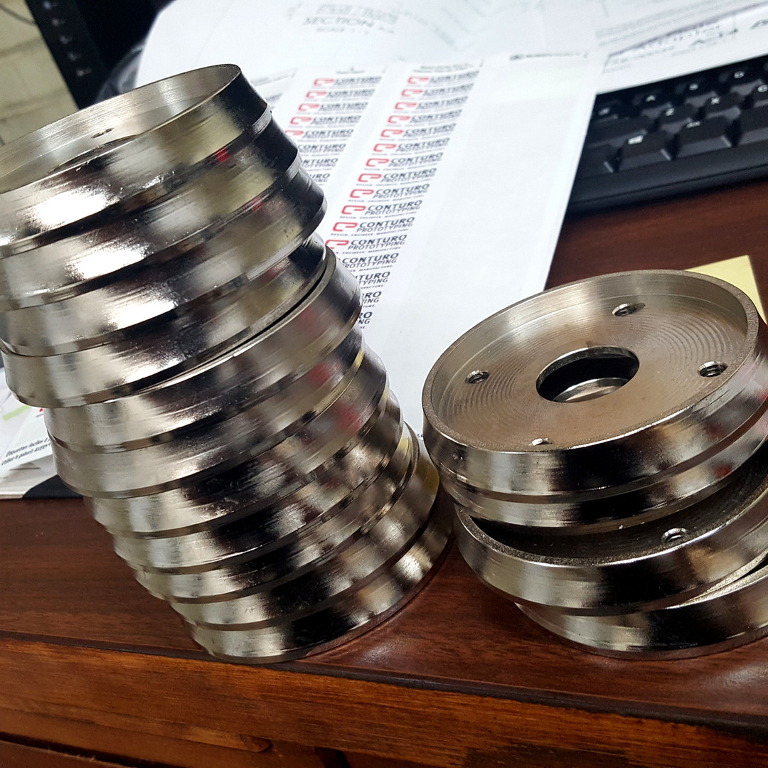 Steel wheels for robotics assembly