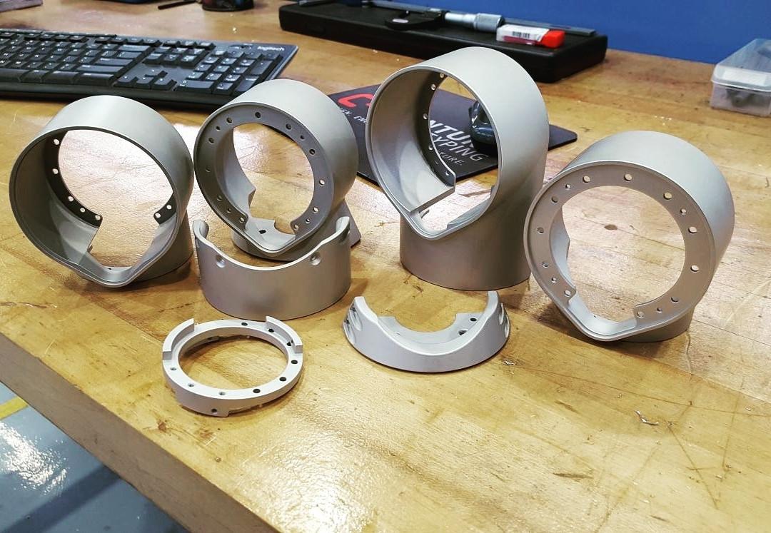 Complex 7075 aluminum parts for a robotic arm assembly