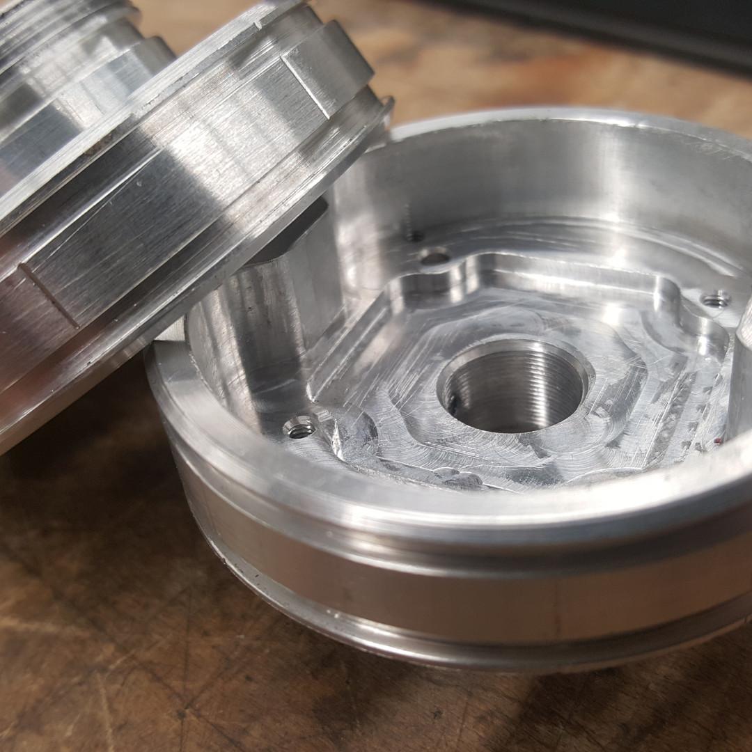 Turned aluminium lense housing