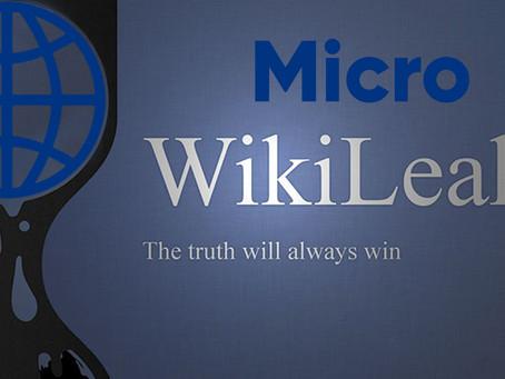 MicroWikiLeaks - simple blackmail?
