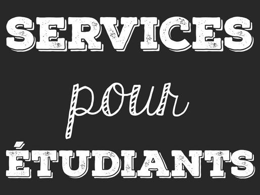 Services pour étudiants