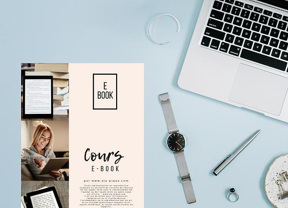 Cours sur la création, diffusion et monétisation d'E-book