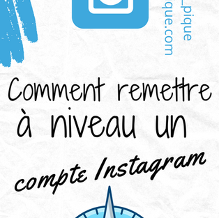 Comment remettre un compte Instagram à niveau ?