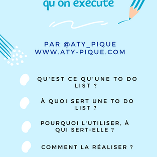 Comment faire une To Do List efficace qu'on exécute ?
