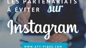 Ces partenariats à éviter sur Instagram