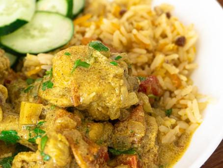 Coxinhas de Frango com Curry e Iogurte
