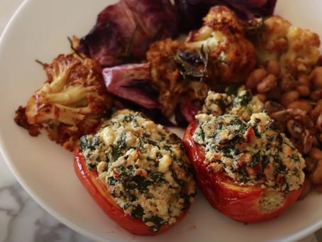 Tomate Recheado com Ricota e Espinafre | Receita