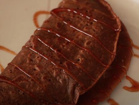 Crepe de Cacau para o Café da Manhã| Receita
