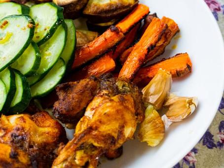 Coxinhas da Asa e Vegetais Assados | Jantar Preguiçoso