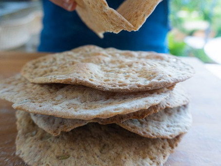 Pão Sírio com Sementes | Receita