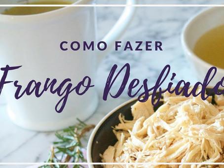 Frango Desfiado e Caldo de Frango à Jato | Receita