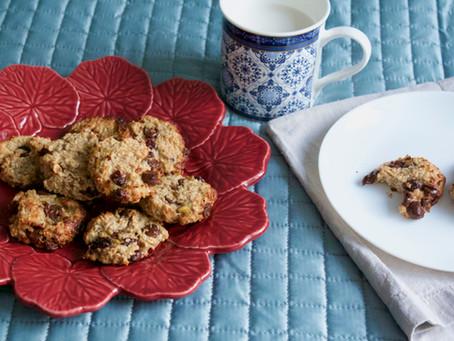 Cookies de Aveia com Pasta de Amendoim e Banana | Receita