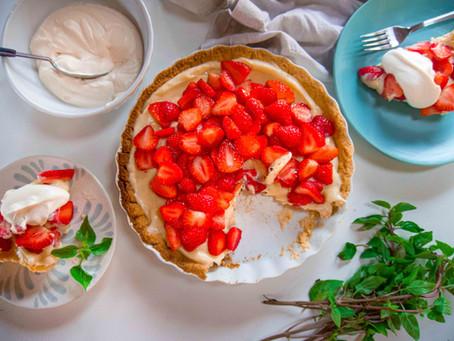 Torta de Morango com Manjericão | Receita