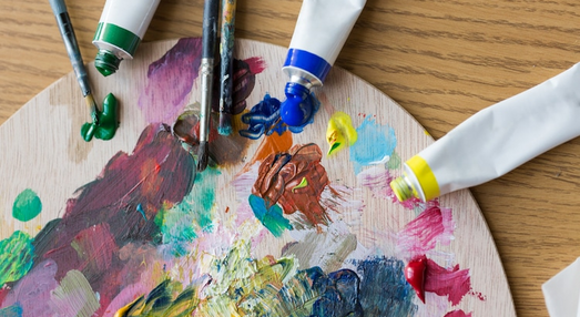Paint with acrylic or watercolor