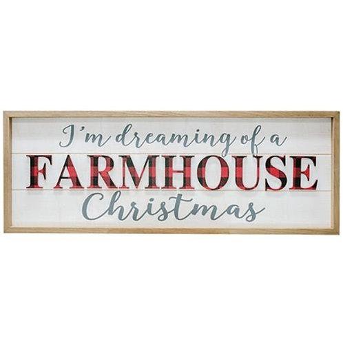 Buffalo Check Farmhouse Christmas Sign