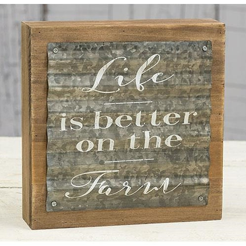 Life Is Better on the Farm Box Sign
